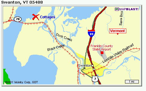 maps of cottage location lake champlain cottages lake champlain cottages vt